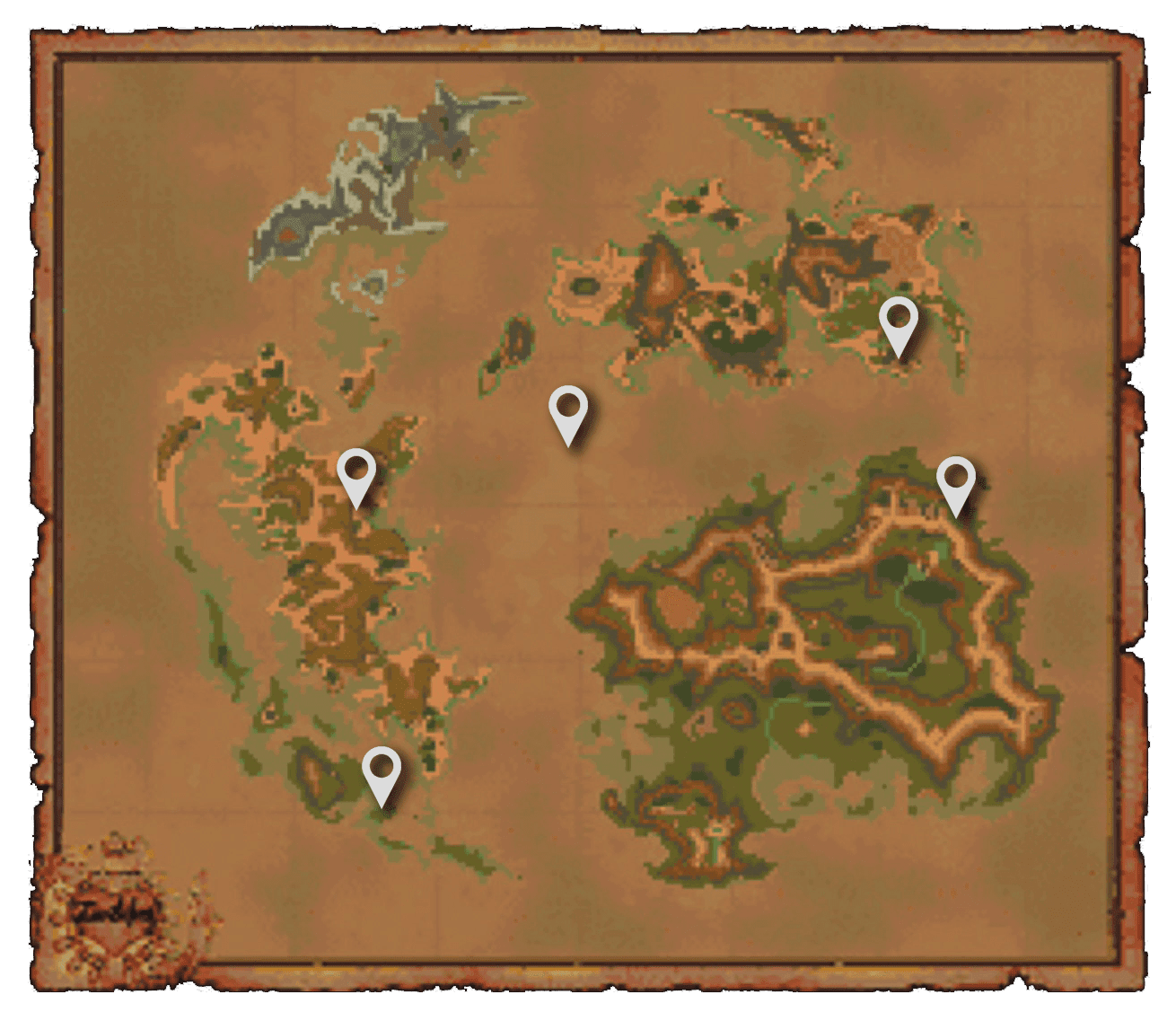 Chocobo's Air Garden Map of Shadow Locations