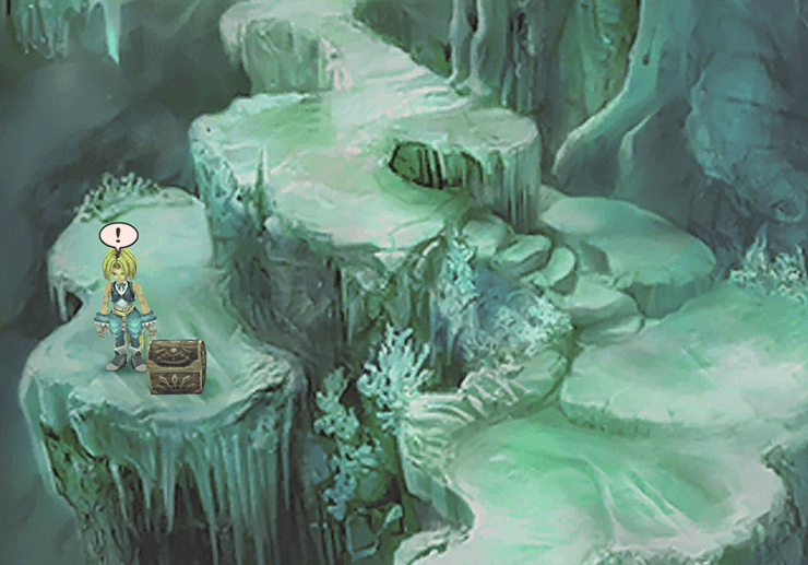 Treasure Chest in the Ice Cavern