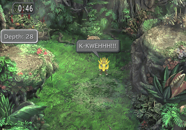 Chocobo digging in the Chocobo's Forest