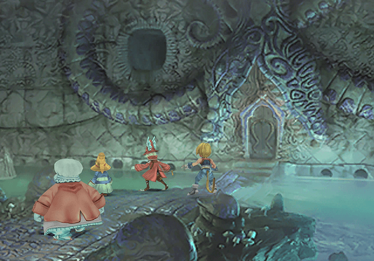 Moogle couple in the back of Gizamaluke's Grotto