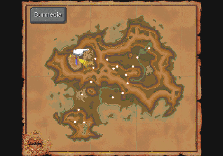 Burmecia on the Mist Continent World Map