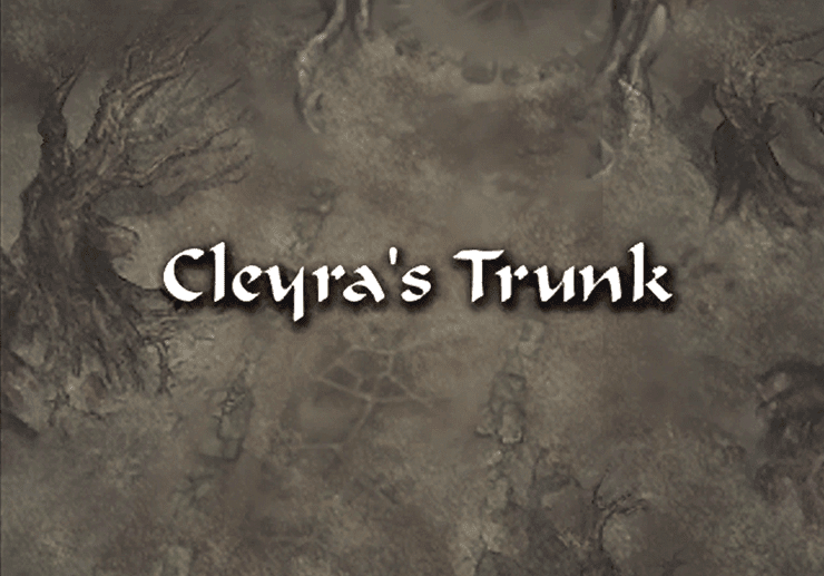 Cleyra's Trunk Title Screen