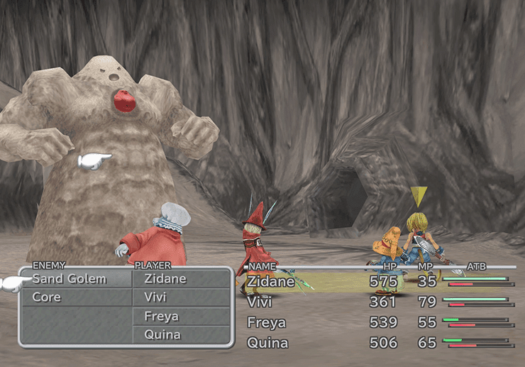 Battle against a Sand Golem
