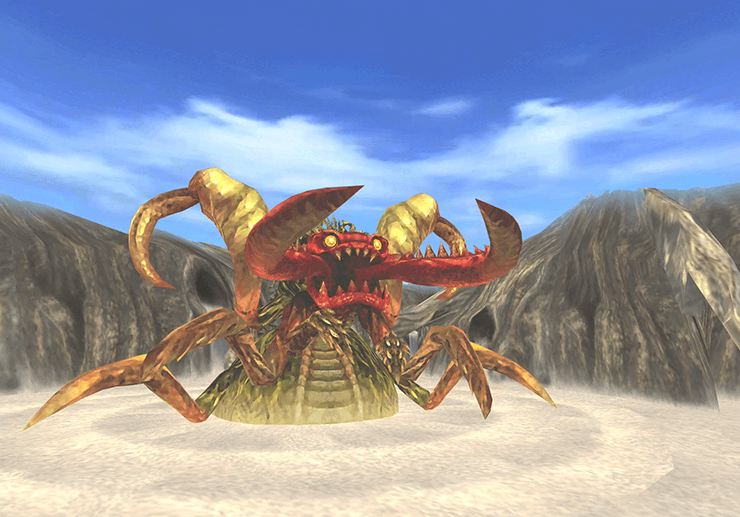 Boss battle against the Antlion