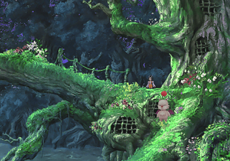 The first area where Monty the Moogle is standing at the Pinnacle Rocks