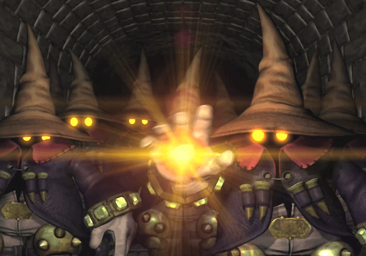 Black Mages attacking Lindblum Castle
