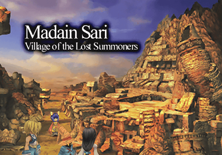 Madain Sari, Village of the Lost Summoners Title Screen