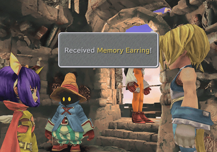 Memory Earring award after recovering Eiko's stolen jewel