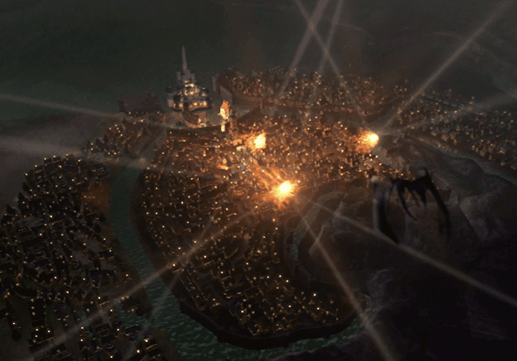 Bahamut attacking Alexandria
