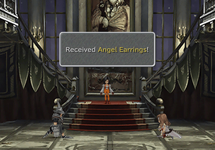 Receiving the Angel Earrings from Beatrix