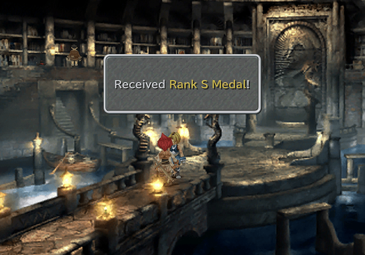 Picking up the Rank S Medal from the Treasure Hunter side quest in Daguerreo
