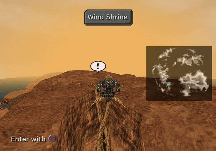 Hovering above the Wind Shrine on the Forgotten Continent