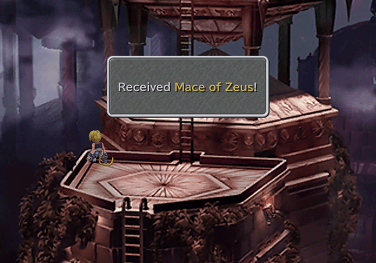 Obtaining the Mace of Zeus in the Gaia's Birth Room