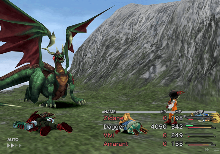 Dagger battling a Grand Dragon in the Popos Heights