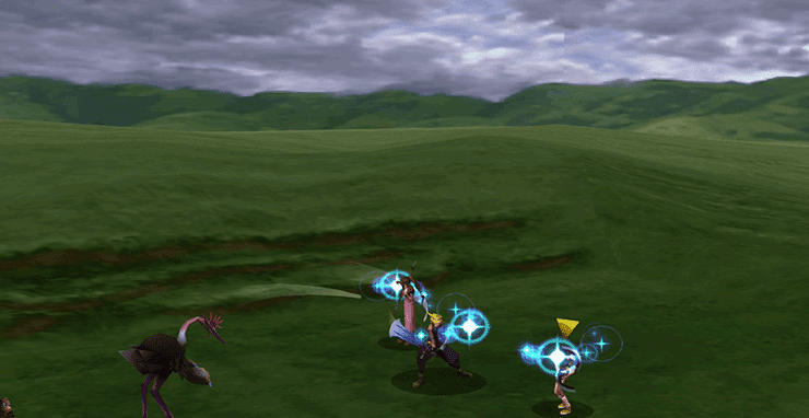 Aeris using Healing Wind