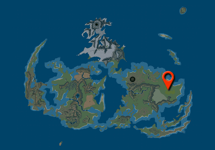 Chocobo Farm on the World Map