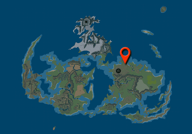 Midgar form the world map