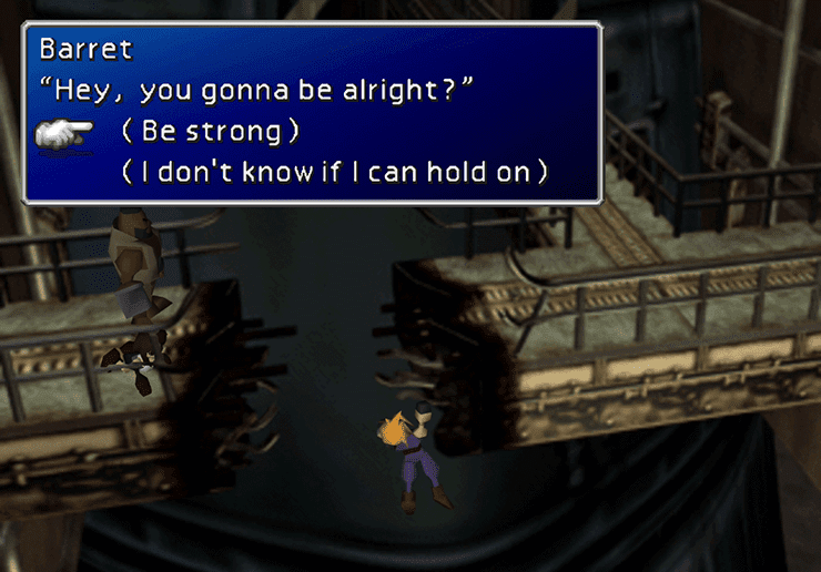 Be strong, Barret