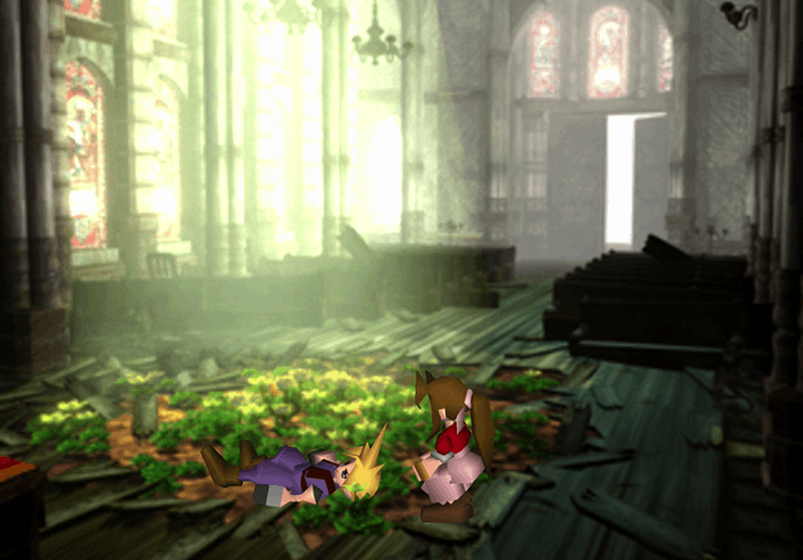 Cloud meeting with Aeris in the Church