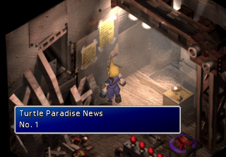 The first Turtle's Paradise Newsletter in Midgar