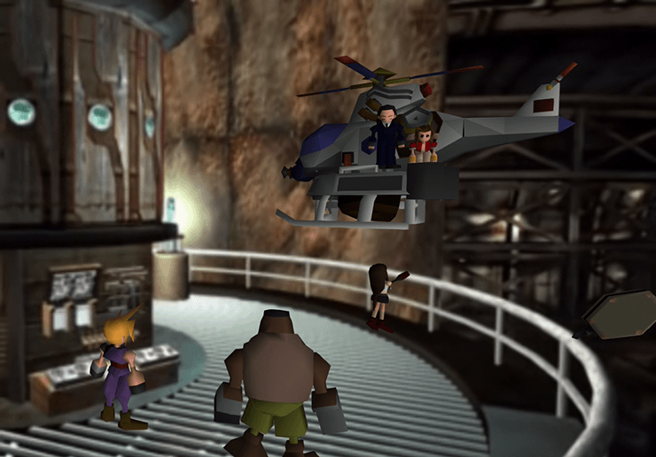 The Turks kidnapping Aeris on the helicopter