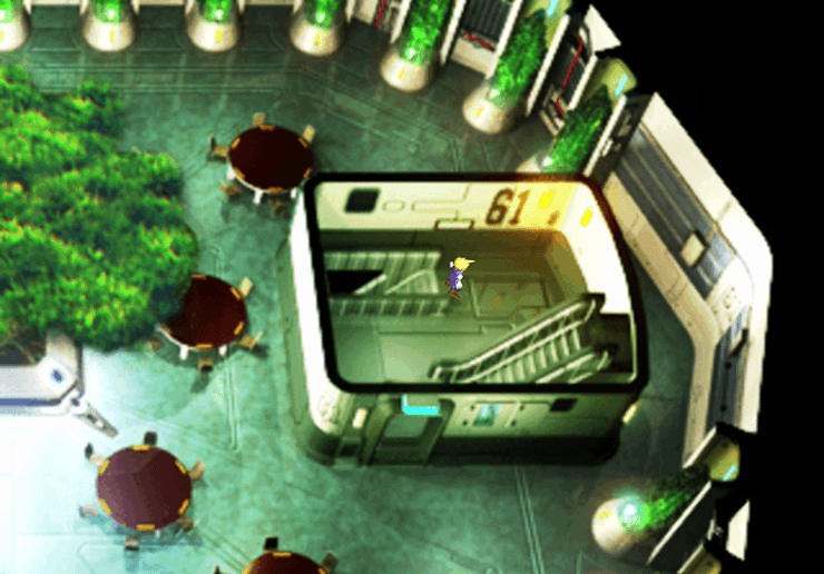 The 61st floor of the Shinra Building