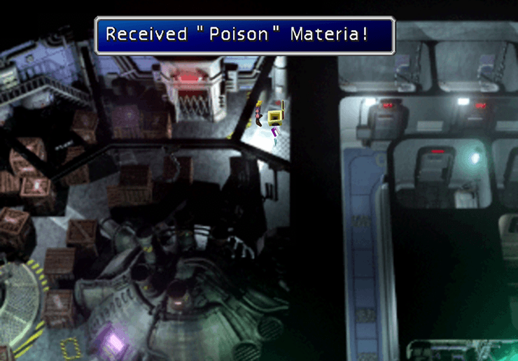 Picking up the Poison Materia