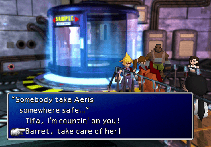 Somebody take Aeris somewhere safe