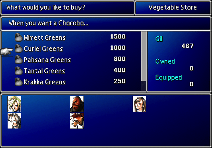 Final Fantasy VII Walkthrough: Chocobo Farm - Jegged com