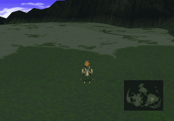 Chocobo crossing the swamp