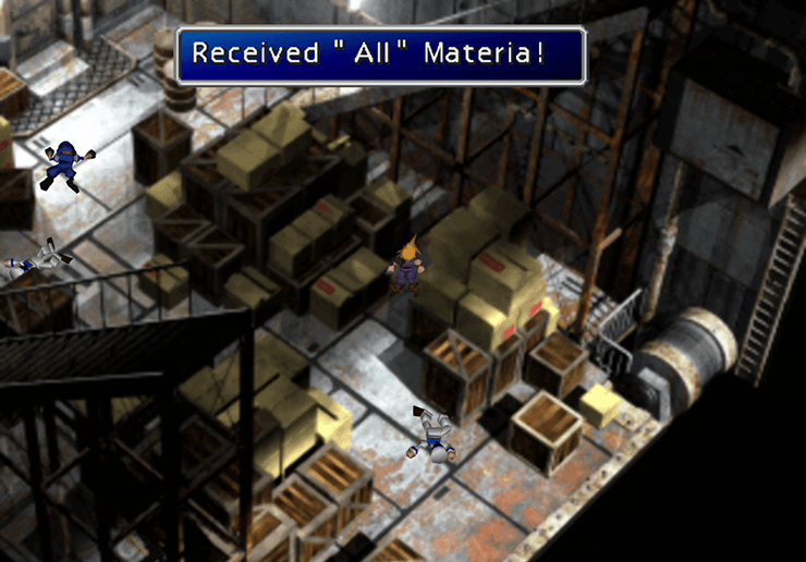 Picking up the All Materia in the Cargo Ship bay