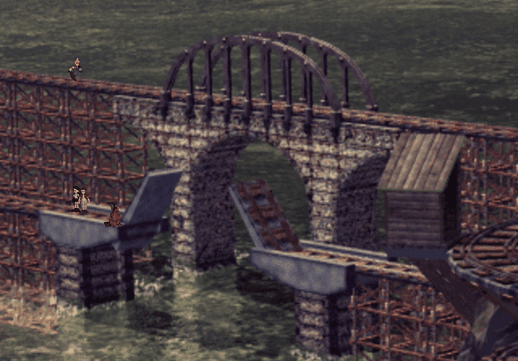 The draw bridge in Mount Corel