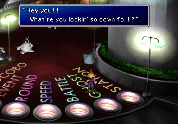 Cait Sith reading your fortune - foreshadowing