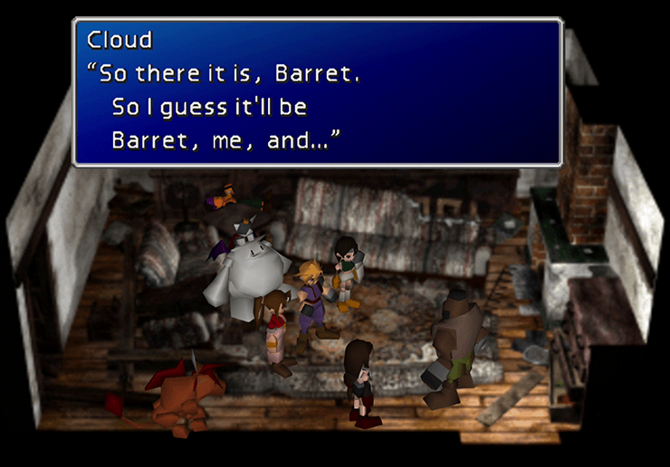 Choosing the party to chase down Dyne with Barret