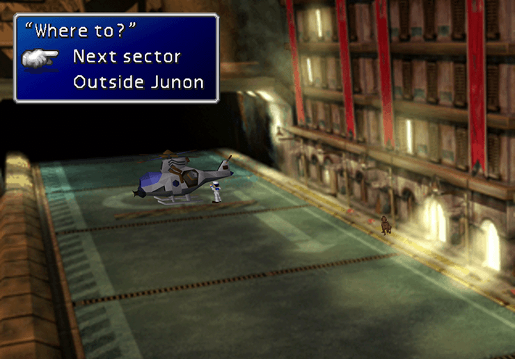 The free helicopter ride in Junon