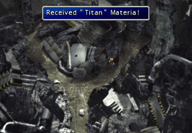 Titan Materia at the ruined reactor
