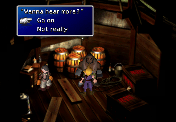 Asking Barret to go on