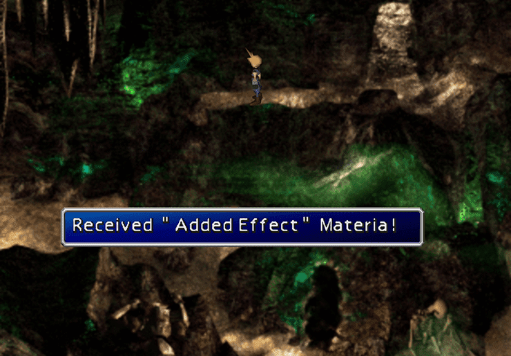 Added Effect Materia in the Cave of the Gi