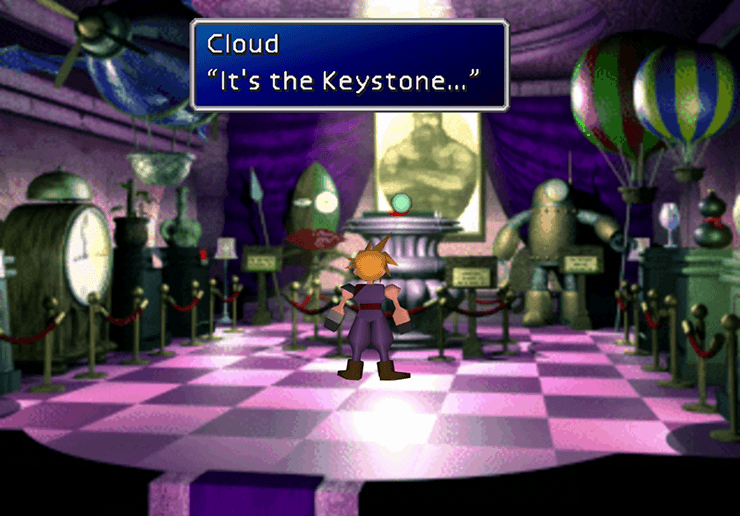 The Keystone in Dio's Showroom in Battle Square