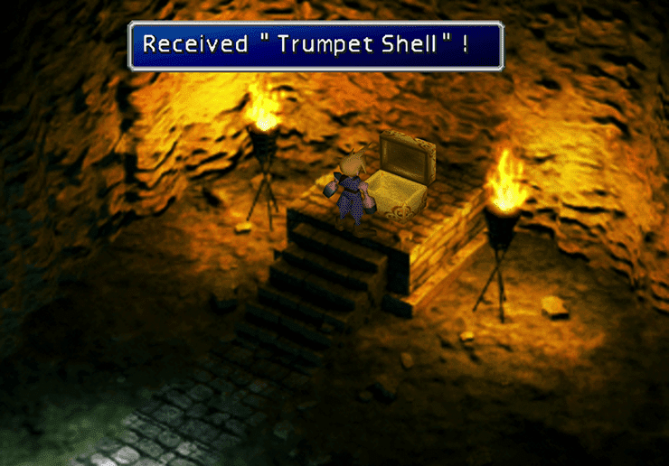 Picking up the Trumpet Shell in the Temple of the Ancients