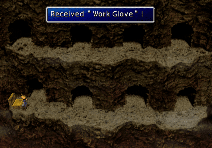 Picking up the Work Glove in the Temple of the Ancients