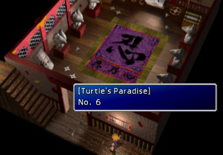 Turtles Paradise Newsletter in Wutai in Yuffie's Basement
