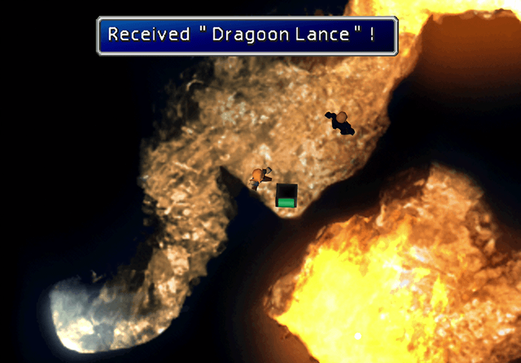 Picking up the Dragoon Lance in the Da Chao Fire Cavern