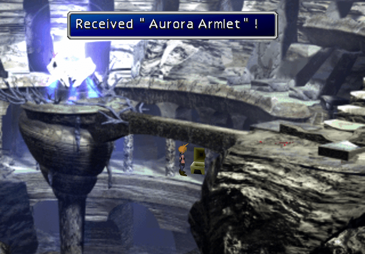 The treasure chest containing the Aurora Armlet