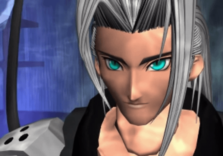 Sephiroth during the Aeris Cinematic