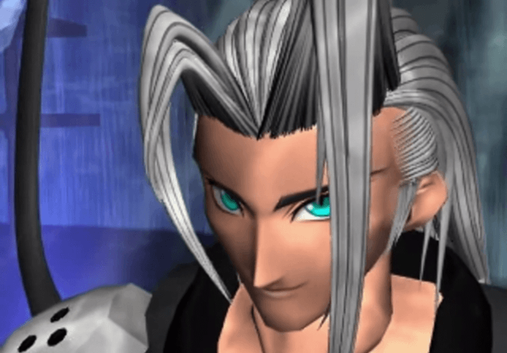 Sephiroth during Aeris' death scene