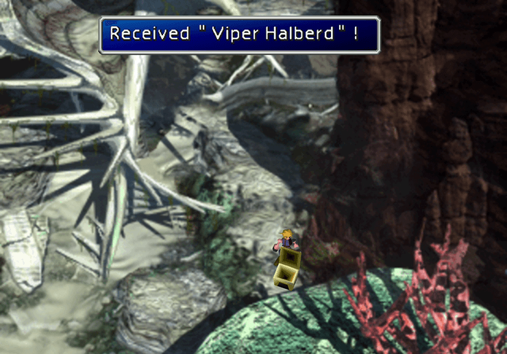 Picking up the Viper Halberd in the Corel Valley