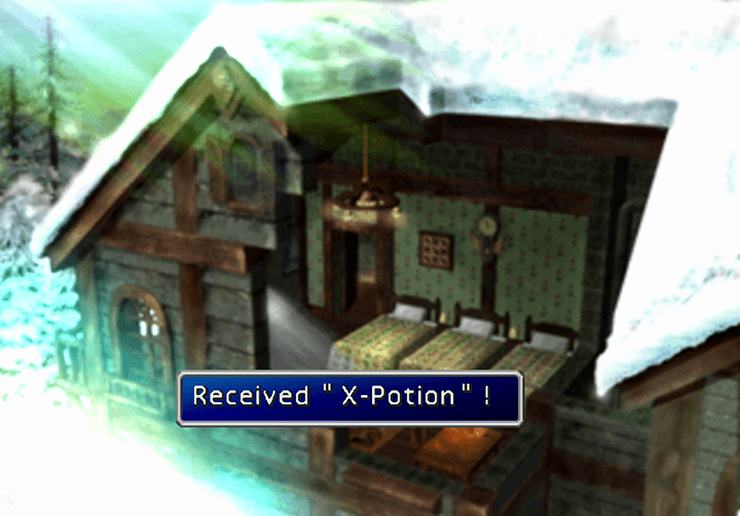 The X-Potion at the top of the Icicle Inn house