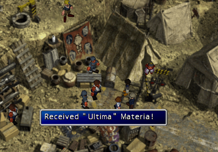 Cid receiving Ultima Materia in North Corel