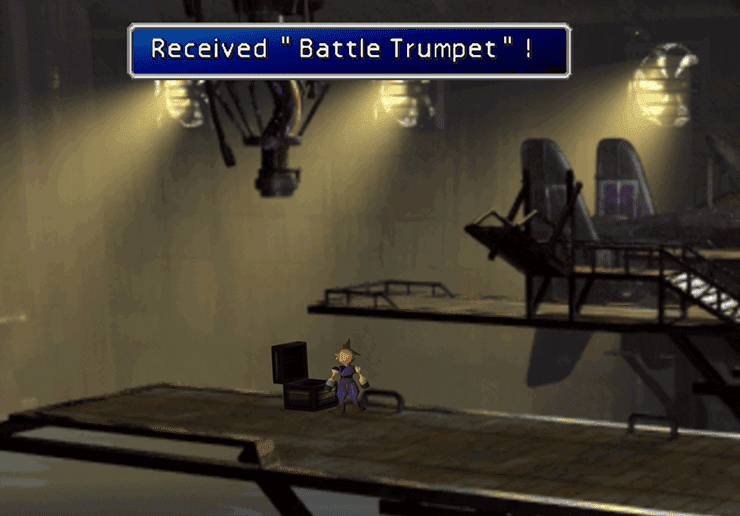 Picking up the Battle Trumpet in the Underwater Reactor
